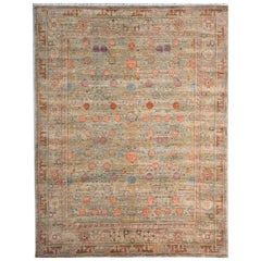 Khotan Style Rug Hand Knotted Pomegranate Tree Contemporary Wool Area Carpet