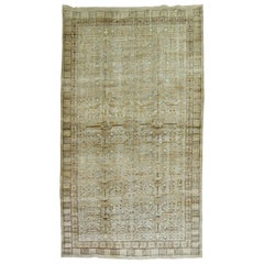 Khotan Rug in Celadon Green and Brown