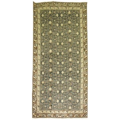 Khotan Rug in Olive Green and Brown