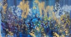 Blue Beladonna, Painting, Oil on Canvas