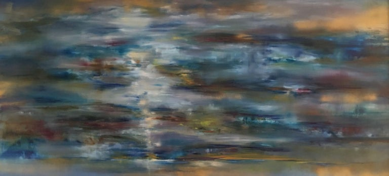 Khrystyna Kozyuk Abstract Painting - Sea Waves, Painting, Oil on Canvas