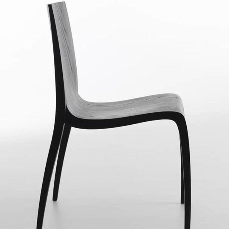 Italian Ki Black Chair by Mario Bellini For Sale