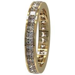 Kian Design 2.03 Carat Princess Cut Diamond All the Way Around Bridal Ring