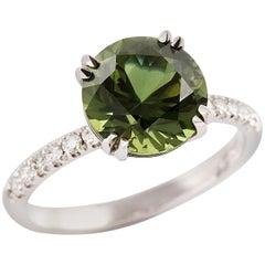 Kian Design 3.67 Carat Sapphire Diamond Engagement Ring 18 Carat White Gold