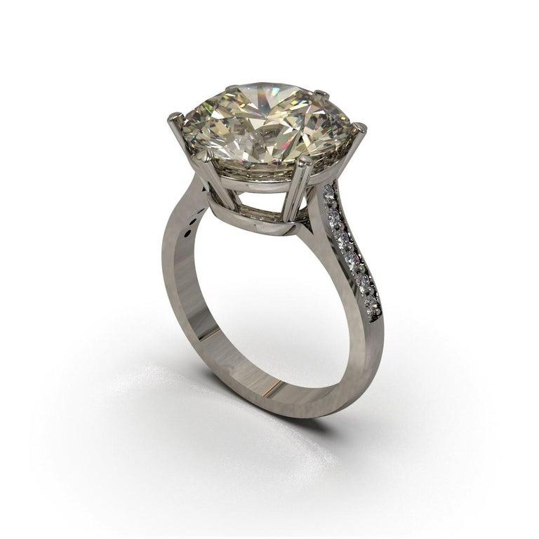 Kian Design 6.01 Carat Round Brilliant Cut GIA Certified Diamond Platinum Ring In New Condition For Sale In South Perth, AU