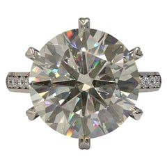 Kian Design 6.01 Carat Round Brilliant Cut GIA Certified Diamond Platinum Ring