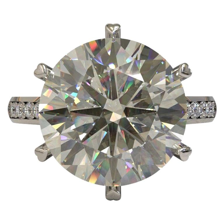 Kian Design 6.01 Carat Round Brilliant Cut GIA Certified Diamond Platinum Ring For Sale
