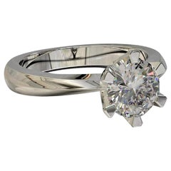 Kian Design Platinum 0.50 Carat GIA Round Brilliant Cut Diamond Engagement Ring