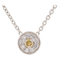 Kian Design Round Brilliant Cut Cluster Diamond Necklace in 18 Carat White Gold