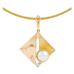 Kian Design South Sea White Pearl and Diamond Necklace in 18 Carat Gold
