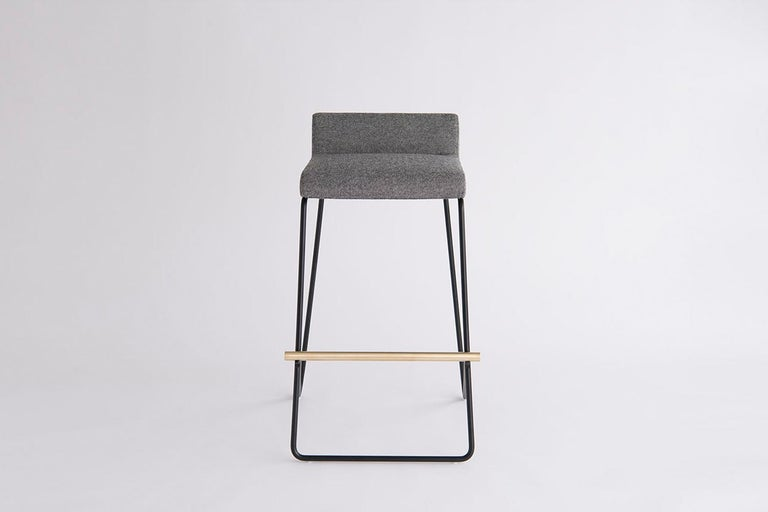Modern Kickstand Bar and Counter Stool For Sale