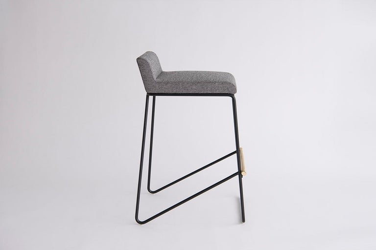 Contemporary Kickstand Bar and Counter Stool For Sale
