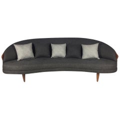 Kidney Shaped Adrian Pearsall for Craft Associates Sofa Model 2010-S Perfect