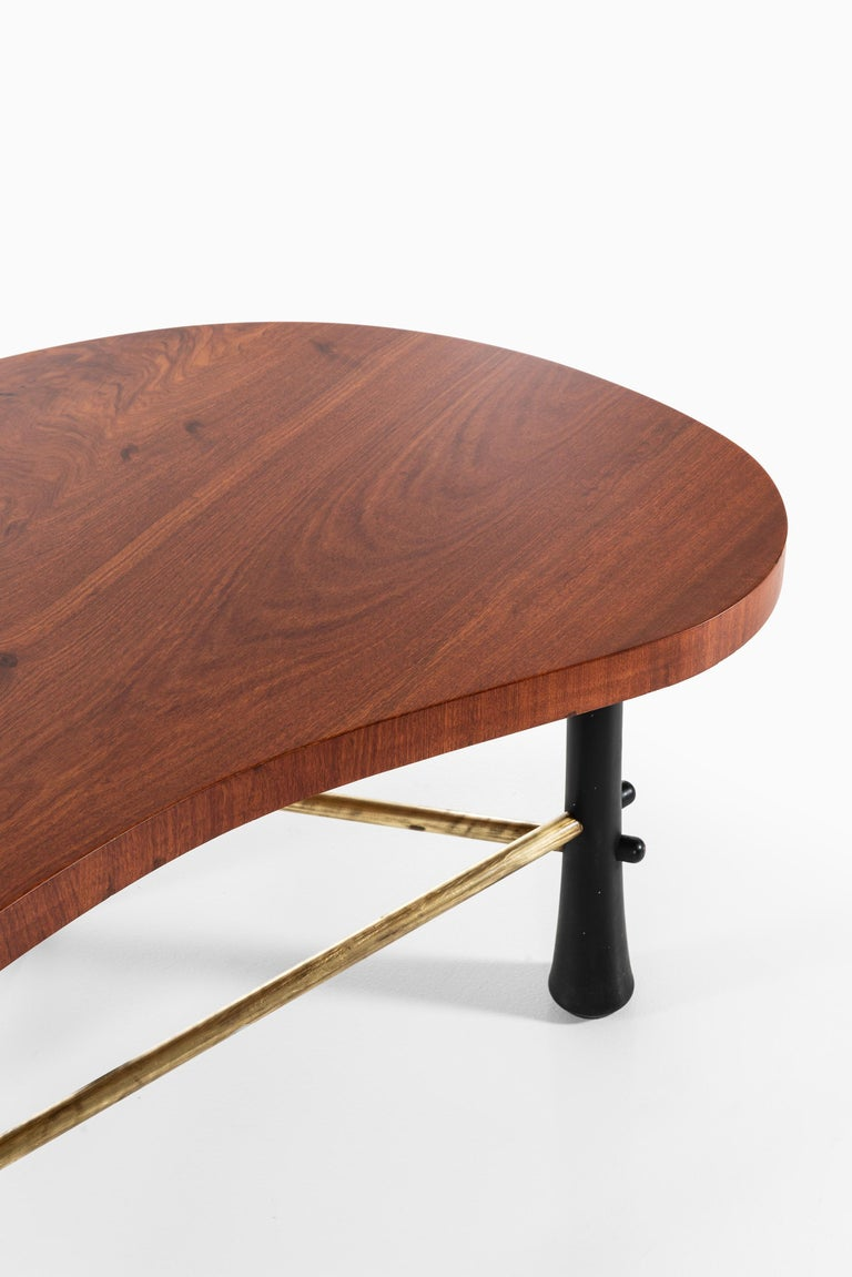 Kidney-Shaped Coffee Tables Produced in Sweden In Good Condition For Sale In Malmo, SE