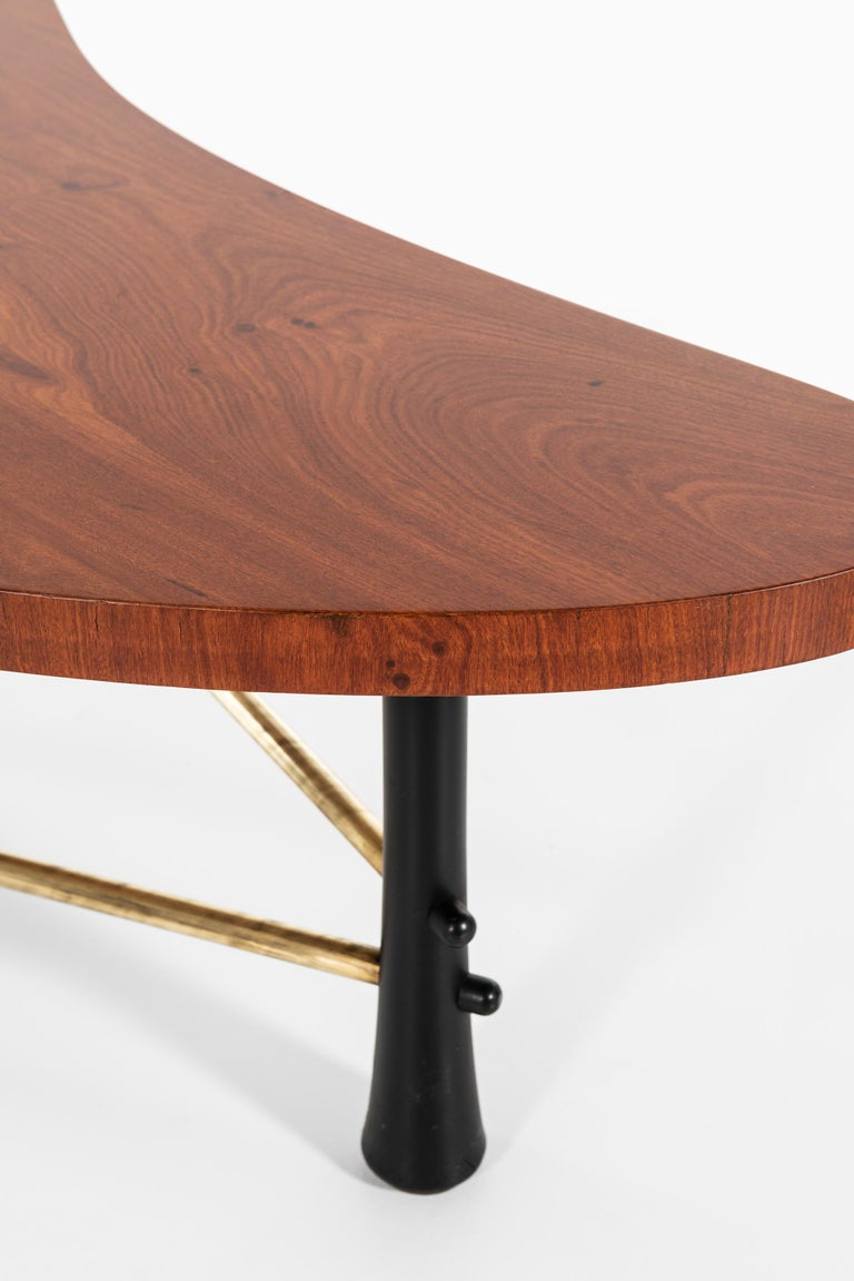 Mid-20th Century Kidney-Shaped Coffee Tables Produced in Sweden For Sale
