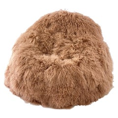Kids Fur Bean Bag Chair, Pink Rose Gold