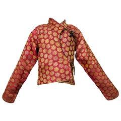 Kid's Kadjar jacket in gold silk lampas - Persia 19th