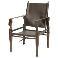 Kienzle Safari Chair by Wohnbedarf 1950s with New Leather