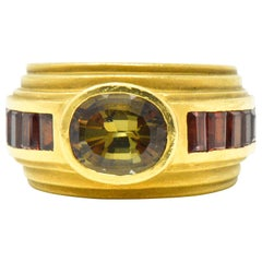 Kieselstein-Cord 3.05 Carats Andalusite Tourmaline 18 Karat Gold Band Ring