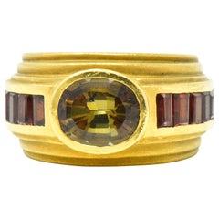 Kieselstein-Cord 3.05 Carat Andalusite Tourmaline 18 Karat Gold Ring