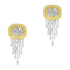 """Kieselstein-Cord """"Angel in My Window"""" Diamond Drops Yellow Gold Earrings"""