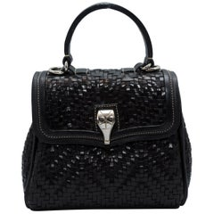 Kieselstein-Cord Black Woven Leather Bag