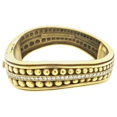 Kieselstein Cord Large Caviar Yellow Gold Diamond Bracelet