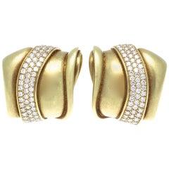 Kieselstein Cord Diamond Gold Earrings
