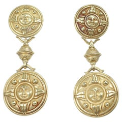 Kieselstein Cord Large Dangle Yellow Gold Earrings