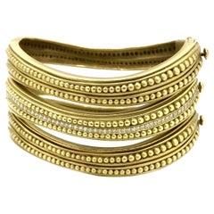 Kieselstein-Cord Set of Three Diamond Caviar Bangle Bracelets