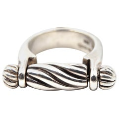 Kieselstein-Cord Sterling Silver Spindle Ring, Center Spindle Rotates