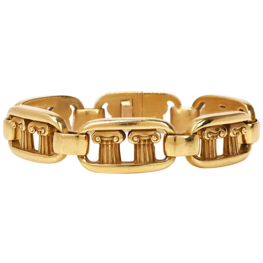 Kieselstein Cord Vintage Pompeii Column 18 Karat Gold Bracelet