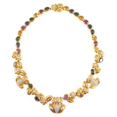 Kieselstein-Cord Green Gold Gemstone Necklace Midsummer Nights Dream Collection