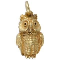 Kieselstein-Cord Yellow Gold Owl Pendant