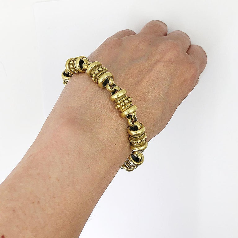 Women's or Men's Kieselstein Gold Bracelet For Sale