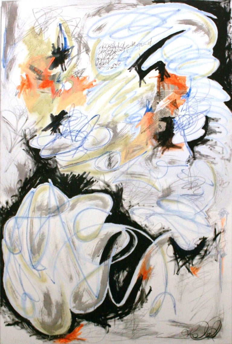 Curse of Time - original abstract expressionist painting by Kieva Campbell