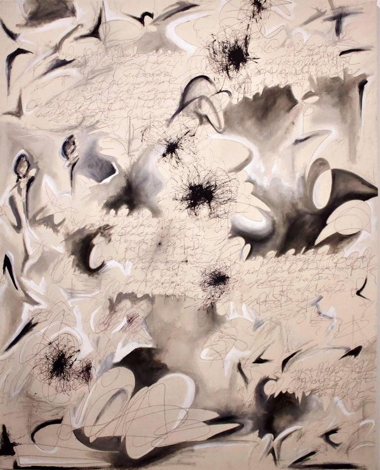 Spiraling Into Control - original painting by emerging artist Kieva Campbell