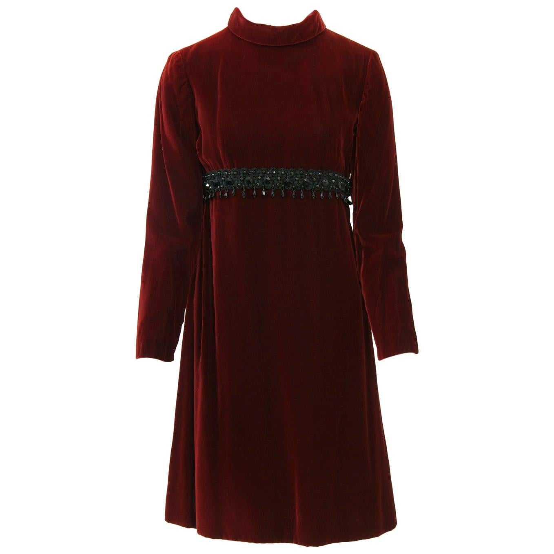 Kiki Hart Burgundy Velvet Dress
