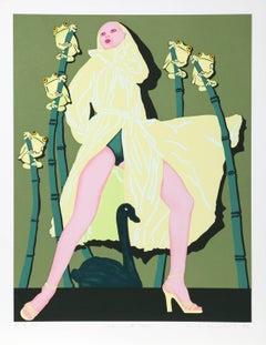 """Leda with Swan"" Feminist Fashion Print by Kiki Kogelnik"