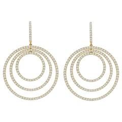 Kiki McDonough 18 Karat Yellow Gold Diamond Hoop Earrings