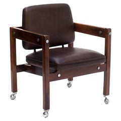 Kiko Chair in Rosewood and Leather by Sergio Rodrigues