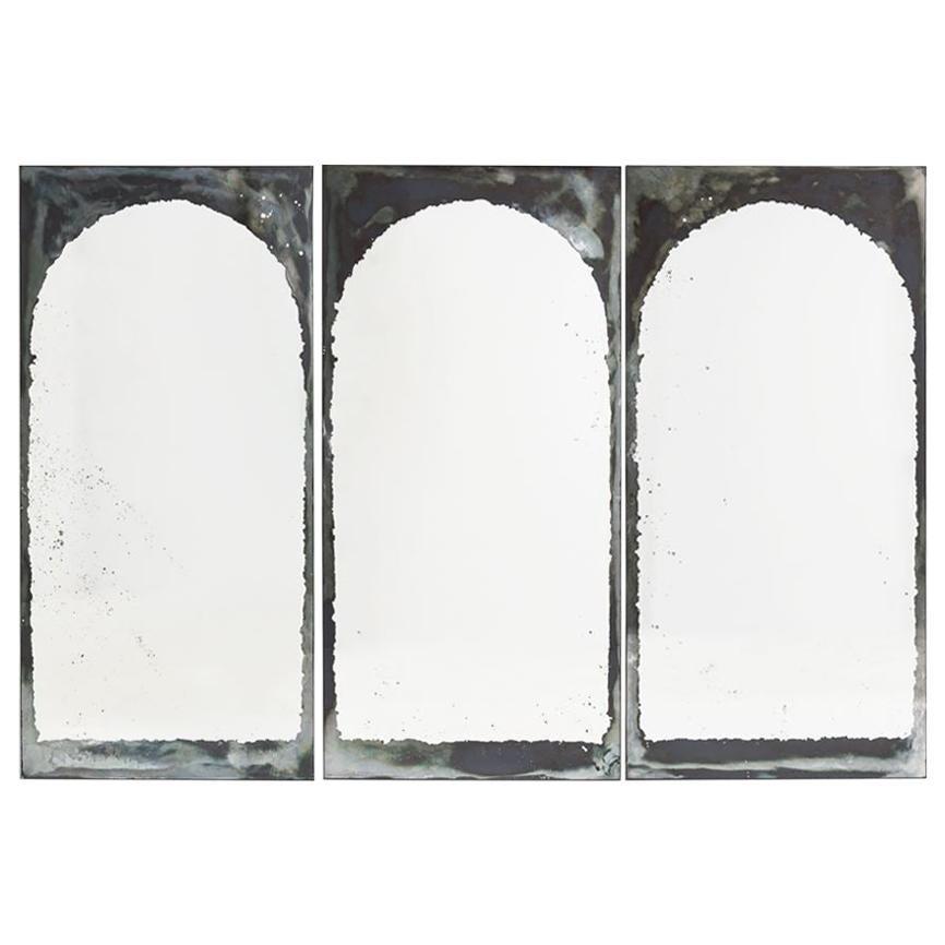 "Kiko Lopez, ""Arches,"" Set of Three Églomisé Wall Mirrors, France, 2018"