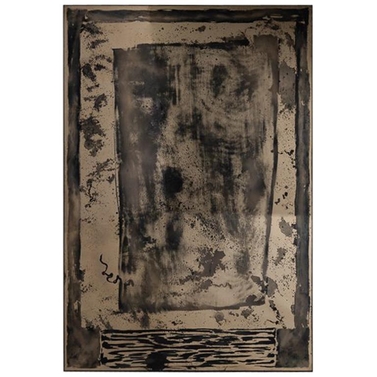"""Kiko Lopez, """"Elysium-Lith 2,"""" Eglomisé Wall Mirror, France, 2014"""