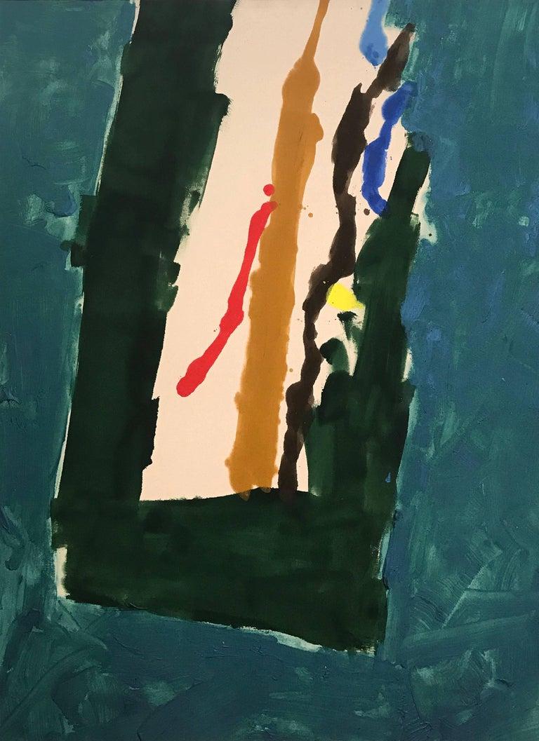 Kikuo Saito Abstract Painting - Blue Trail