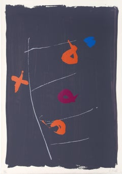 Beggar's Ladder, Large Abstract Silkscreen by Kikuo Saito