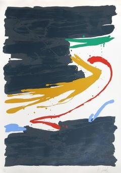 Kurara, Large Abstract Silkscreen by Kikuo Saito
