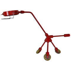 Kila Red Dog Rolling Table Lamp by Harry Allen for IKEA