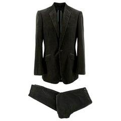 Kilgour Savile Row Grey Corduroy Bespoke Suit  Size M EU Jacket 38, Trousers 34