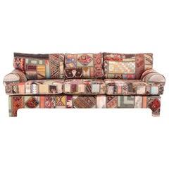 Kilim Clad Custom Handmade Sofa Postmodern Southwest Santa Fe, New Mexico Modern