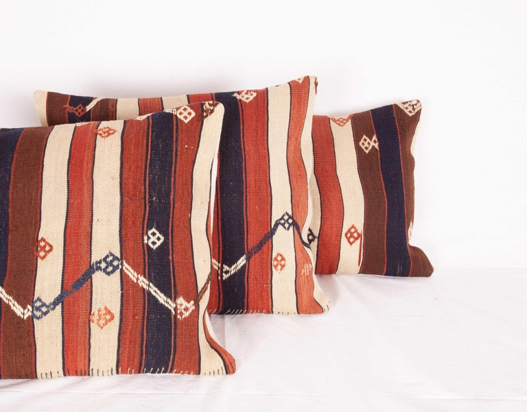 Kilim Pillow Cases Fashioned from an Eastern Anatolian Kilim, Early 20th Century For Sale 2